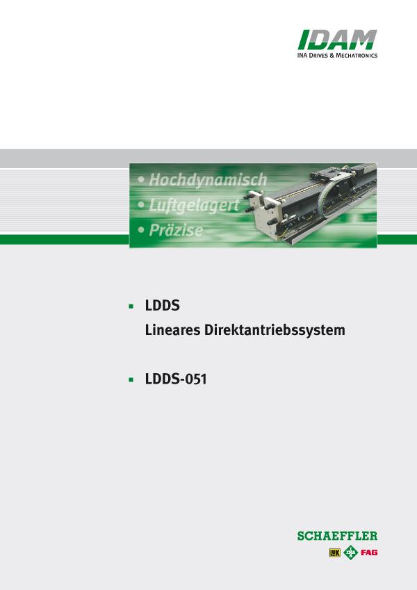Lineares, luftgelagertes Direktantriebssystem: LDDS-051