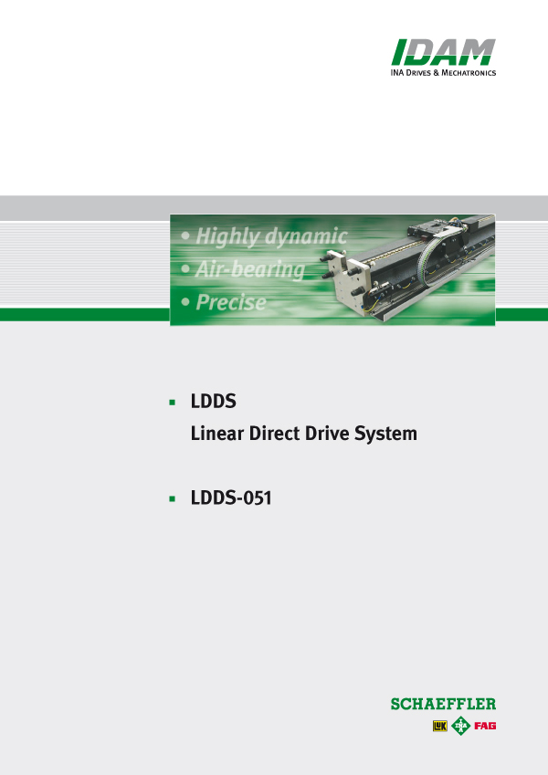 Linear, air bearing direct drive system: LDDS-051