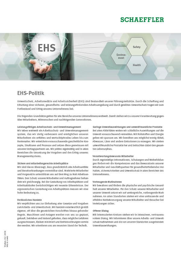 EHS-Politik der Schaeffler Gruppe
